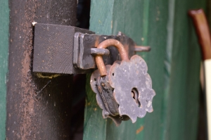 A old lock used to keep the storeroom safe