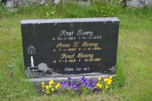 We were told by church members that it is common to reuse old family plots, replacing the grave markers from  the past.